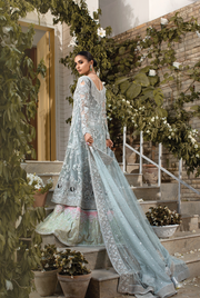 Long Peshwas with Jamawar Lehnga  Backside Look