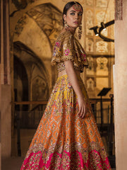 Luxury Mehndi Lehnga Choli for Wedding