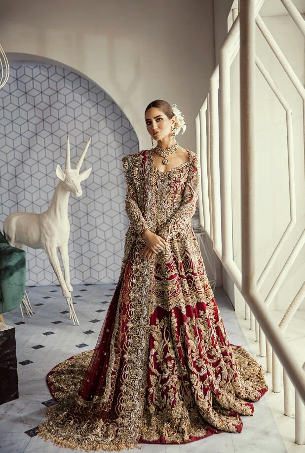 Luxury Red Bridal Lehnga for Wedding #N7061