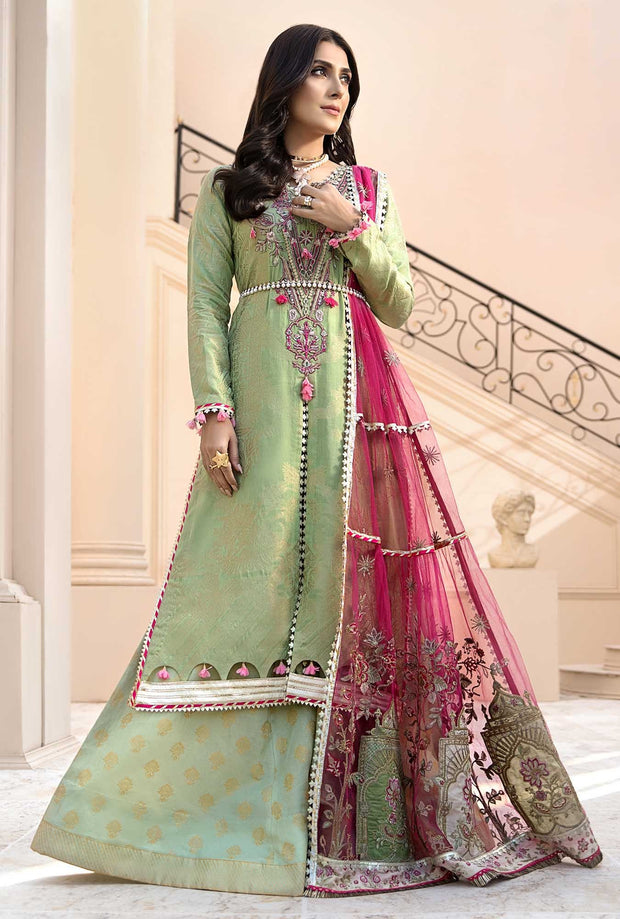 Luxury Lawn Wear 2020 in Green Color