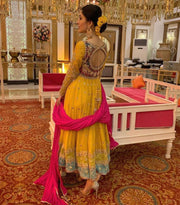 Back view of Stylish Anarkali Frock