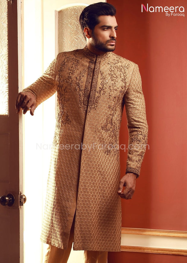Mens Wedding Sherwani 2021 with Embroidery Online