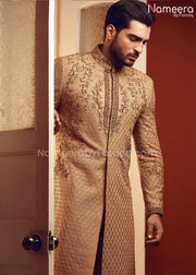 Mens Wedding Sherwani 2021 with Embroidery Online Front Look