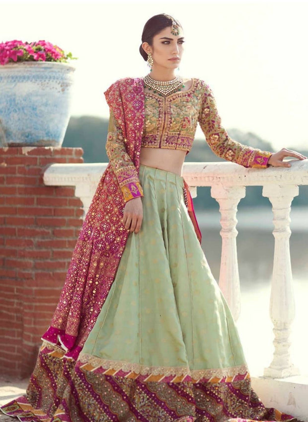 Beautiful Soft mint green lehenga