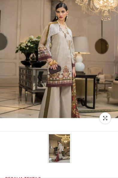 Modest Jacket Style Designer Pakistani Lawn Attire by Honey Waqar