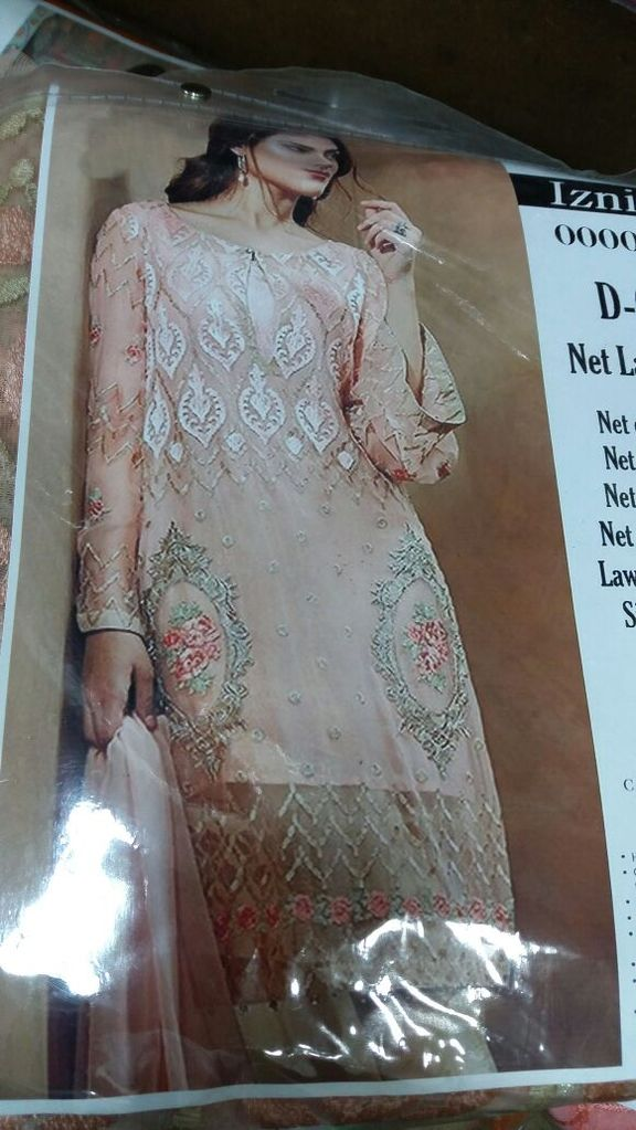 Modest Pakistani  Lawn Dress by Iznik  Net front Inner lawn