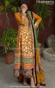 Mustard Salwar Kameez for Wedding Party Wear 2021