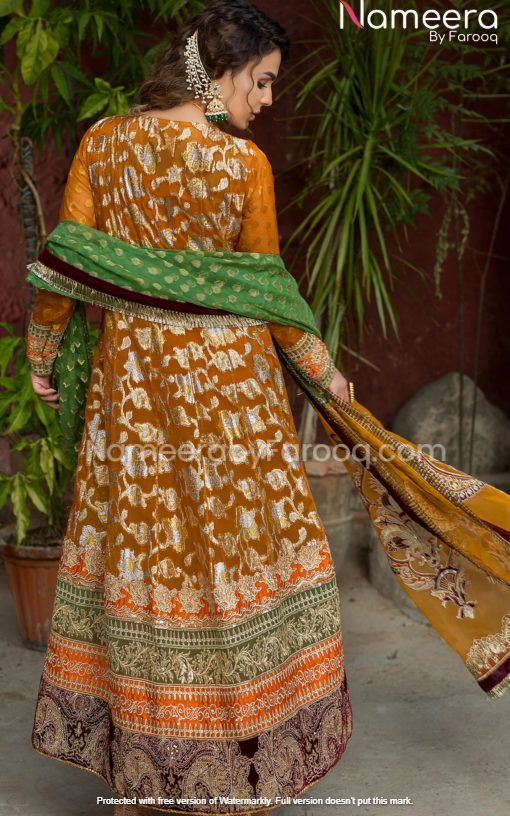 Mustard Salwar Kameez for Wedding Party Wear
