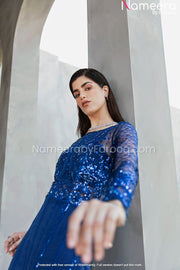 Navy Blue Salwar Kameez for Wedding Wear