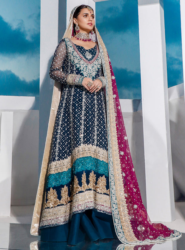 New Bridal Lenga Dress 2020 in Blue Color