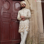 Off White Sherwani for Groom 2021 Online Shopping Front Look