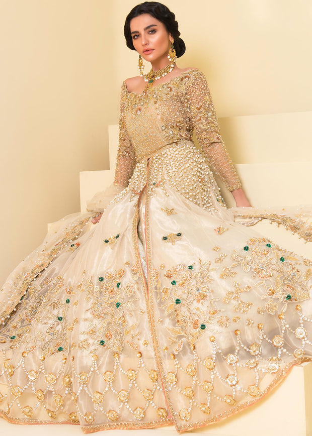 Ivory and light beige bridal wear