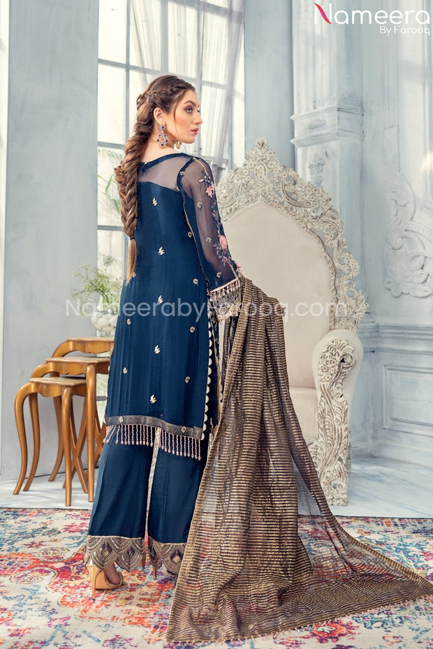 Pakistani Beautiful Wedding Party Dresses 2021 Backside View