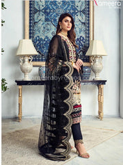 Pakistani Black Net Dress Online for Party 2021