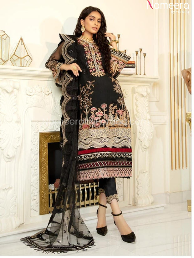 Pakistani Black Net Dress Online for Party 2021 Overall Look