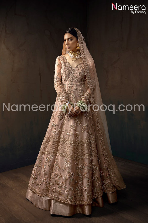 Pakistani Bridal Gown Wear with Embroidery