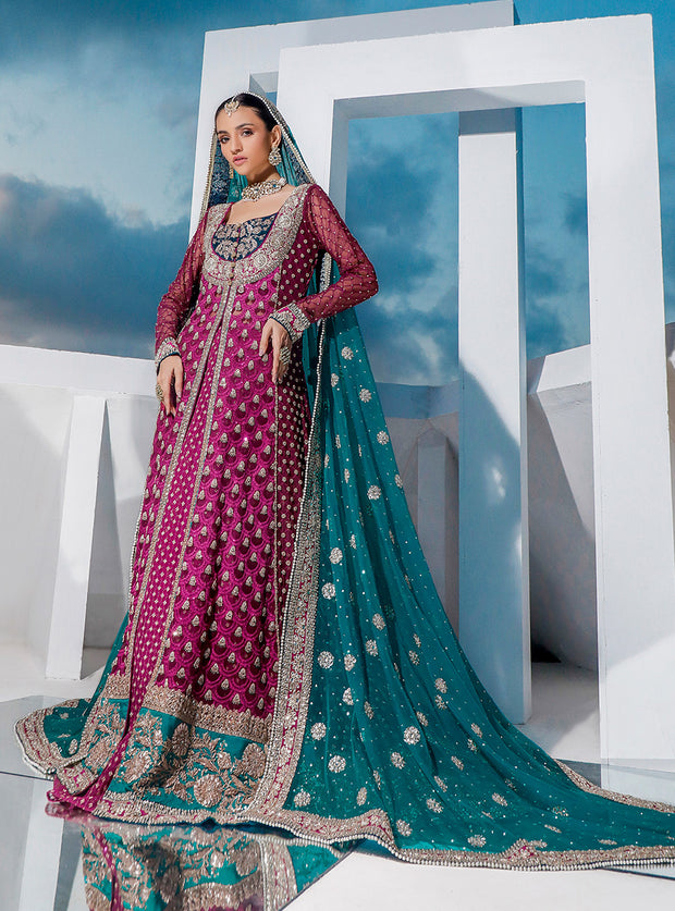 Pakistani Bridal Heavy Wear 2020 in Magenta Color
