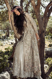 Pakistani Bridal Maxi in Ivory Color