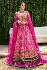 Pakistani Bridal Walima Frock in Pink Color #Y6070
