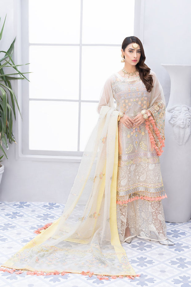 Pakistani Chiffon Festive Outfit with Embroidery