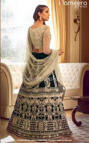 Pakistani Choli Lehenga Dress for Wedding Wear