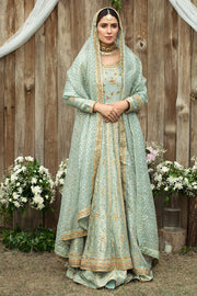 Pakistani Designer Anarkali Frock with Embroidery