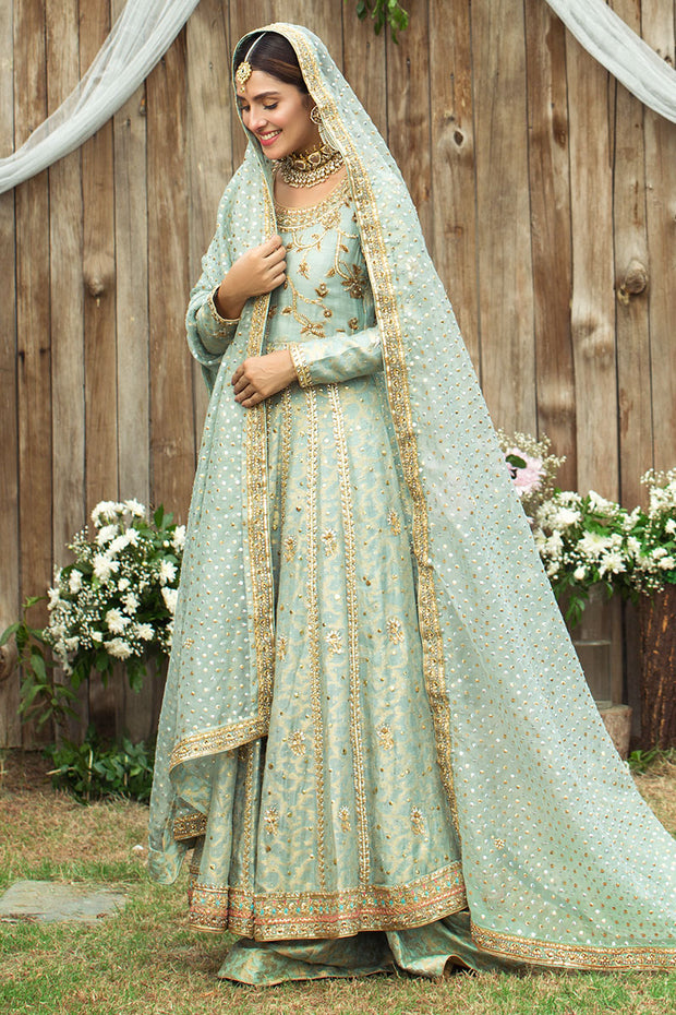 Pakistani Designer Anarkali Frock with Embroidery #Y6062