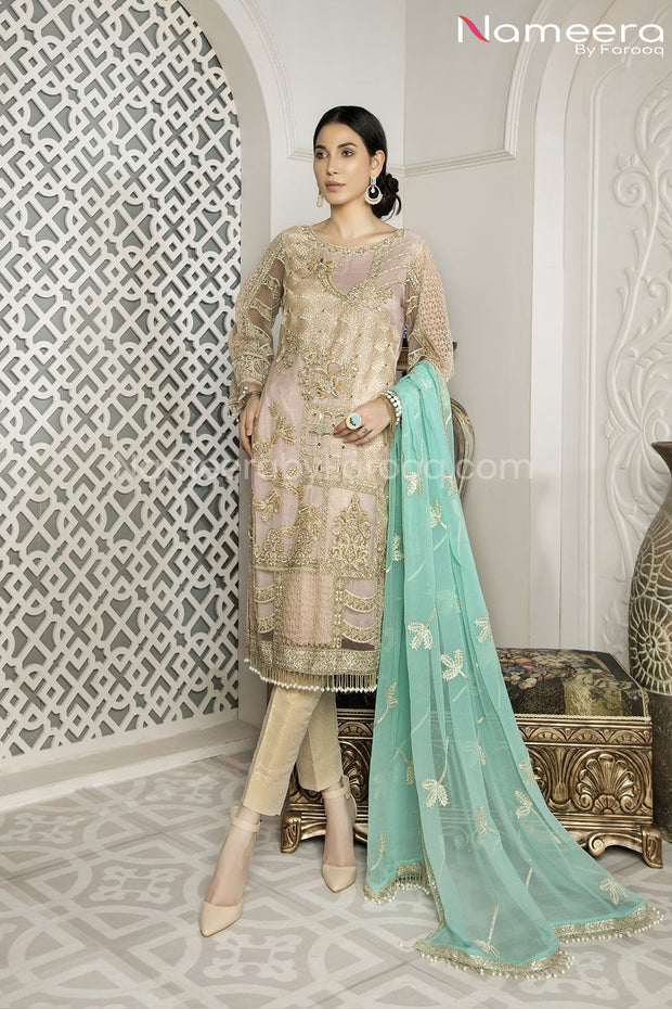 Pakistani Designer Party Wear Dress for Girls