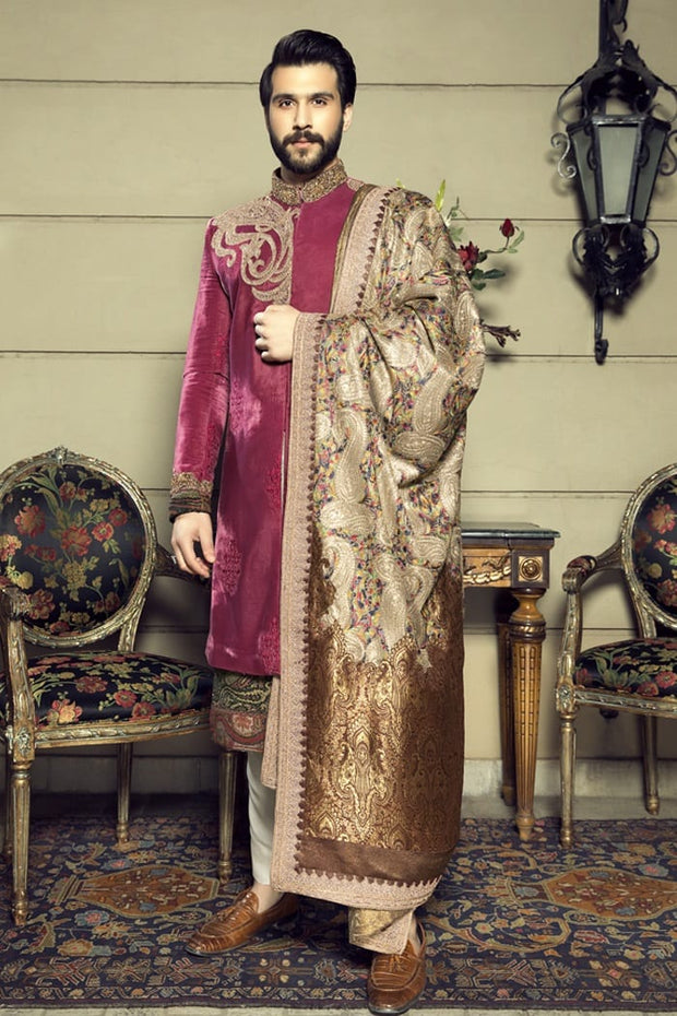 Pakistani Designer Royal Look Sherwani for Groom