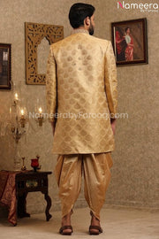Pakistani Designer Sherwani for Groom Online Backside View