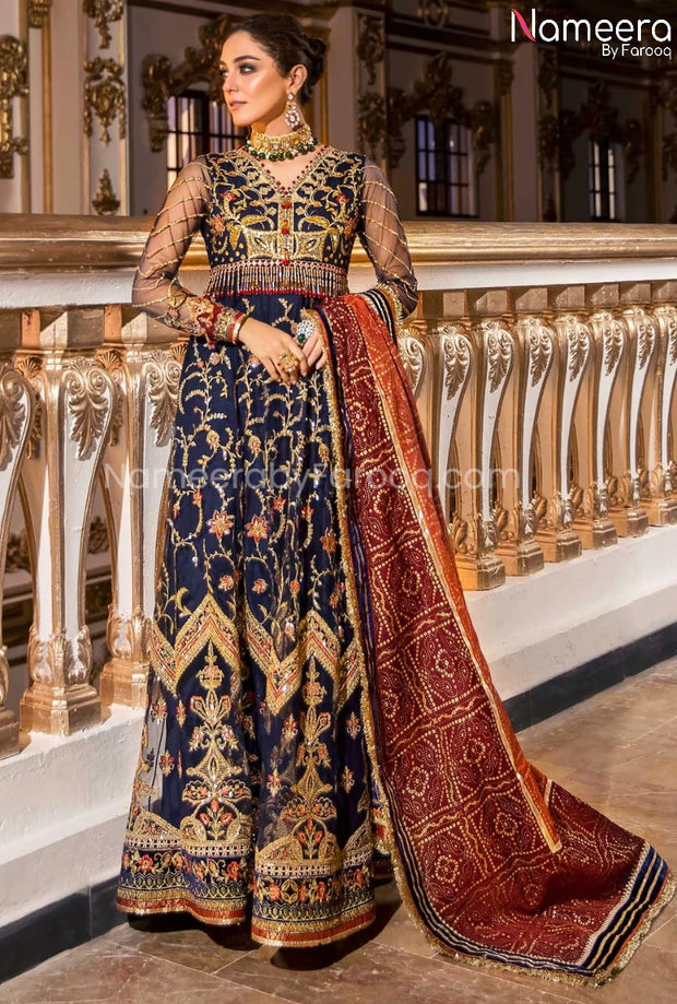 Pakistani Dress Frock for Wedding Party Online