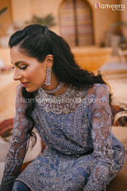 Pakistani Dress Online for Wedding Party 2021 Neckline Embroidery