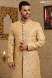 Pakistani Dulha Sherwani for Groom Online 2021 Close Up look