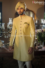 Pakistani Dulha Sherwani in Mint Green color 2021 Front Overall look