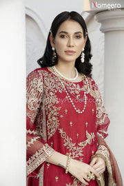 Pakistani Embroidered Chiffon Dress for Party