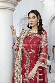 Pakistani Embroidered Chiffon Dress for Party Neckline Embroidery