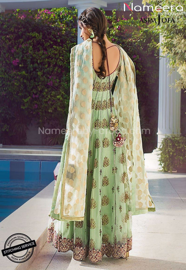 Pakistani Frock Dress for Wedding Party Online Backside Look