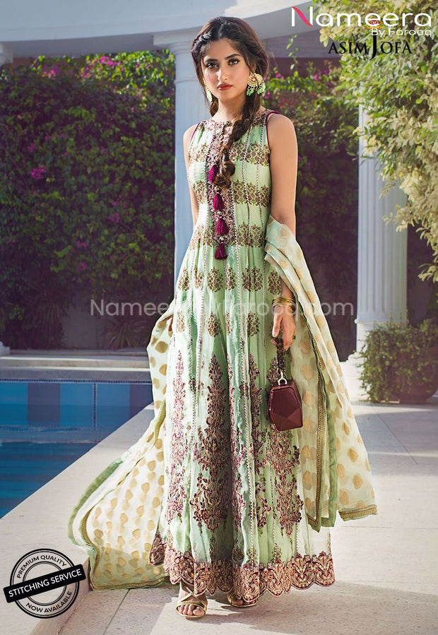 Pakistani Frock Dress for Wedding Party Online