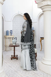 Pakistani Gharara Dress with Short Shirt Online Backside Look