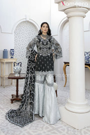 Pakistani Gharara Dress with Short Shirt Online