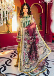 Pakistani Gharara and Short Shirt for Wedding Party