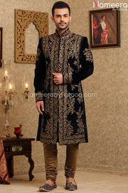 Pakistani Latest Sherwani Design for Groom 2021 Front Look
