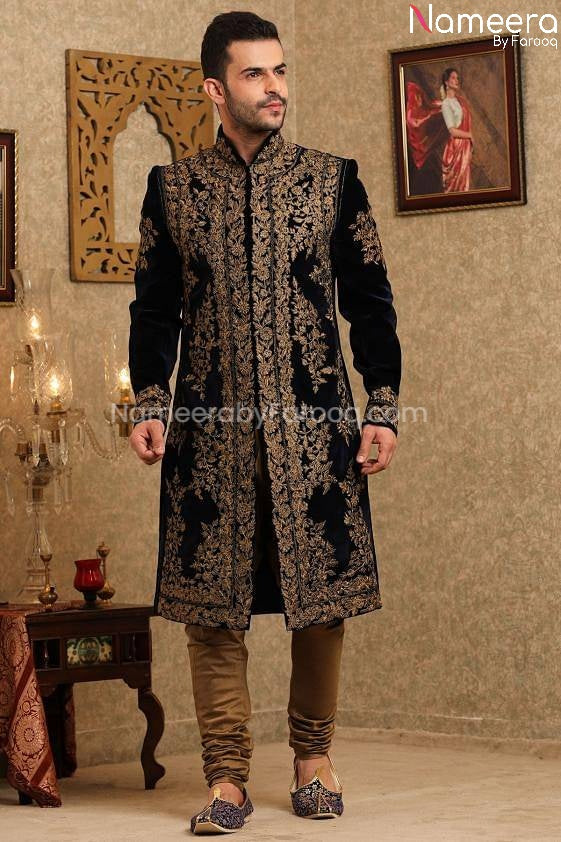 Pakistani Latest Sherwani Design for Groom 2021