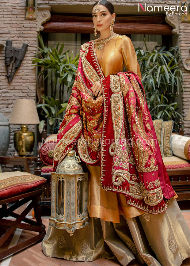 Pakistani Lehenga with Long Kurti
