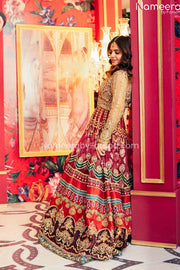 Pakistani Long Dresses for Wedding Party Wear