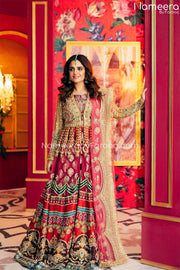 Pakistani Long Dresses for Wedding Party Wear 202