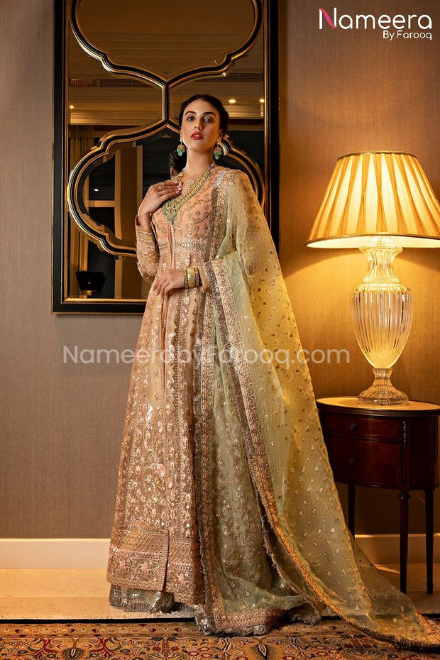 Pakistani Luxury Party Dress for Wedding Online Clear View
