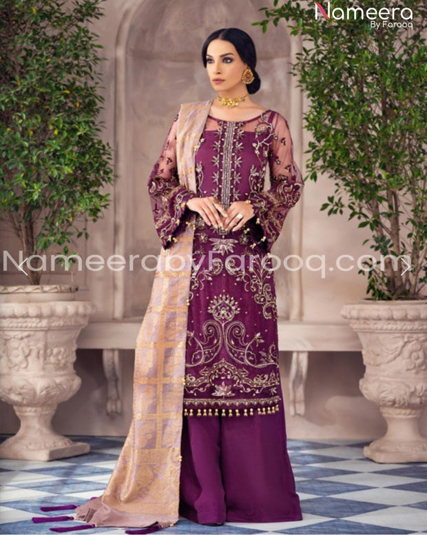 Pakistani Net Embroidered Party Dress