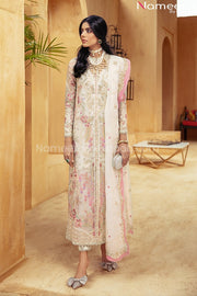 Pakistani Off White Party Dress with Embroidery
