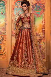 Pakistani Raw Silk Bridal Lehnga Choli